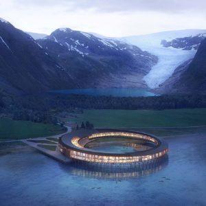 Этот удивительный отель в Арктике будет производить больше энергии чем потреблять.