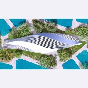 Крыша аквапарка: множество видовых перспектив для одного здания