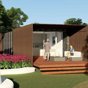 Модульное жилье с поливалентными элементам.