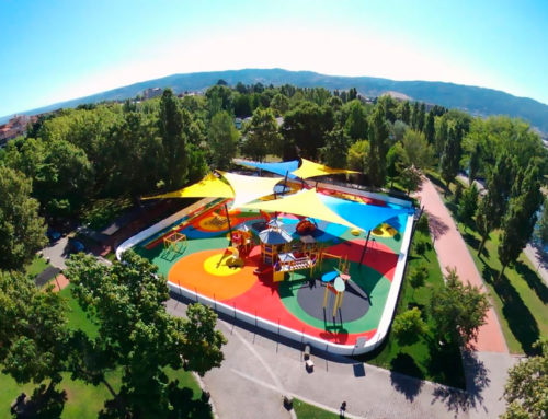 Детский парк Таболаду: дракон и яблоко (+ ВИДЕО)
