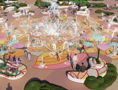 Fountain SplashPad, пейзаж и развлечения